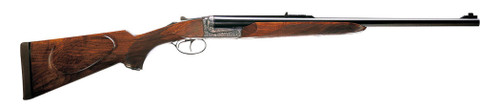 "Chapuis Armes Elan Classic .375 H&H, 25.5"" Barrel, Engraved, Box-Lock, Circassian Walnut"