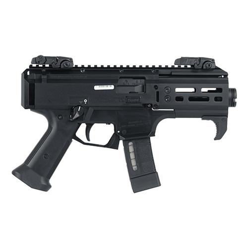 "CZ Scorpion EVO 3 S2 Micro 9mm, 4.12"" Barrel, No Pistol Brace, MBUS Sights, Black, 20rd"