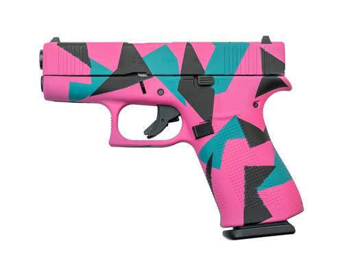 """Glock 43X USA 9mm, 3.41"""" Barrel, Fixed Sights, 80's Splinter, 10rd"""
