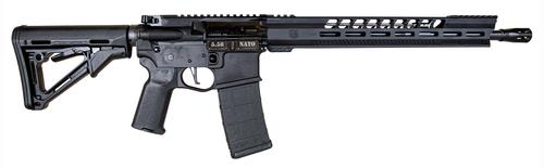 """Diamondback DB15 5.56mm, 16"""" Barrel, Black,Billet Lower, 3.5Lb CMC Trigger, 15"""" M-Lok V Rail, Anti-Slip Texture Pads, 30rd"""