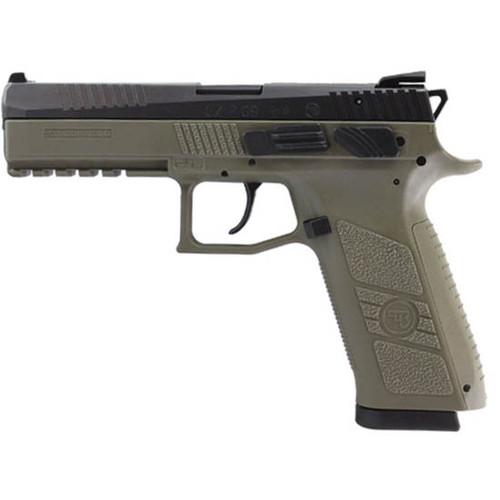 CZ P-09 DA/SA 9mm, Olive Drab, Fixed Sights, 19rd