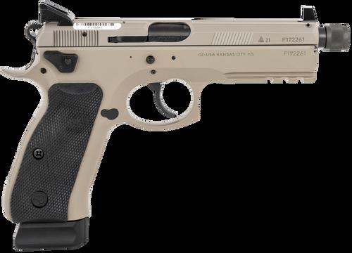 CZ SP-01 9mm Tactical, Urban Grey, Suppressor Ready, 18rd