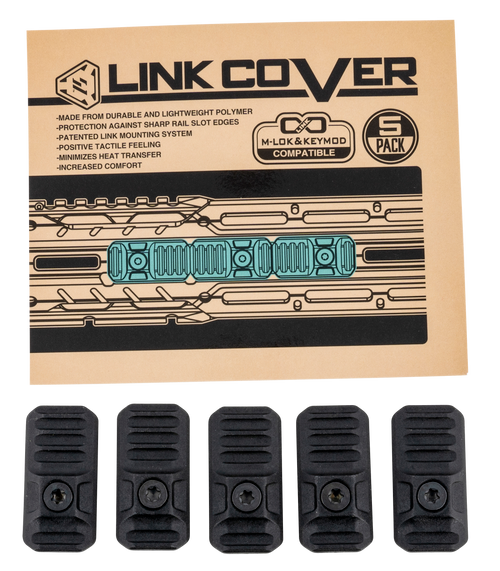 Strike Link Cover M-LOK/Keymod Compatible 39.90mm 20.00mm Mount Height, Polymer, 5 Pack
