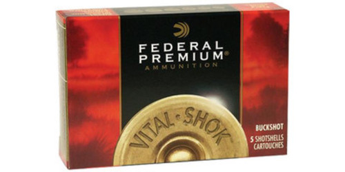 "Federal Vital-Shok Buckshot 12 Gauge 2.75"" 34 Pellets 4 Buckshot 5Bx/50Cs"