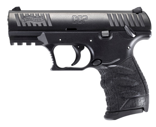 """Walther CCP M2 9mm, 3.54"""" Barrel, 3-Dot Sights, Manual Safety, Black, 8rd"""