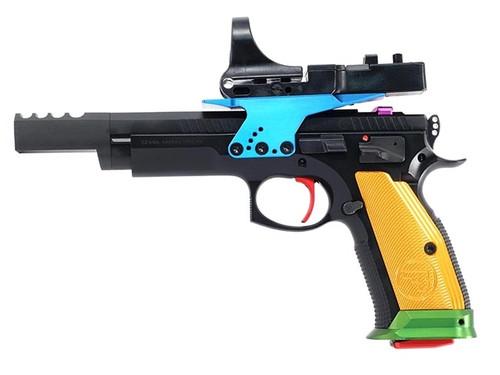 "CZ TS Czechmate Parrot 9mm, 5.2"" Barrel, Cmore Optic, Black, 20rd"