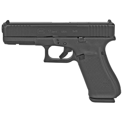 "Glock G17 Gen5 MOS 9mm, 4.49"" Barrel, Fixed Sights, Black, 17rd"
