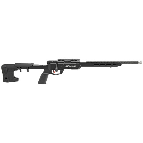 """Savage B22 Precision Lite .22 LR, 18"""" Carbon Wrapped Stainless Barrel, MDT Chassis, Black, 10rd"""