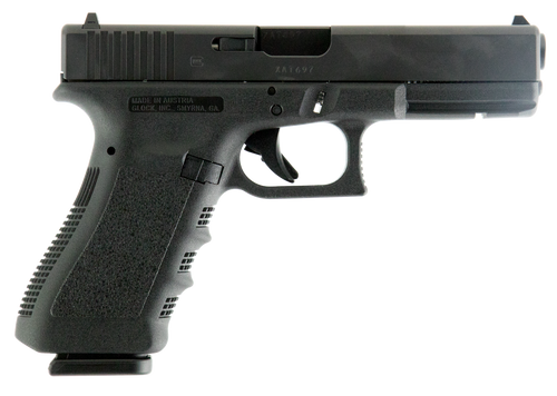 "Rebuilt Glock 17 Pistol, 9mm, 4.49"" Barrel, Matte Black, Fixed Sights, 17Rd, 2 Mags, Glock OEM Rail, 17+1"