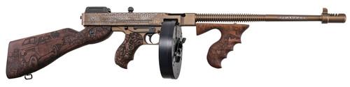 "Thompson 1927A-1 Deluxe Bootlegger .45 ACP, 16.5"" Barrel, Engraved Walnut, Bronze, 20rd"