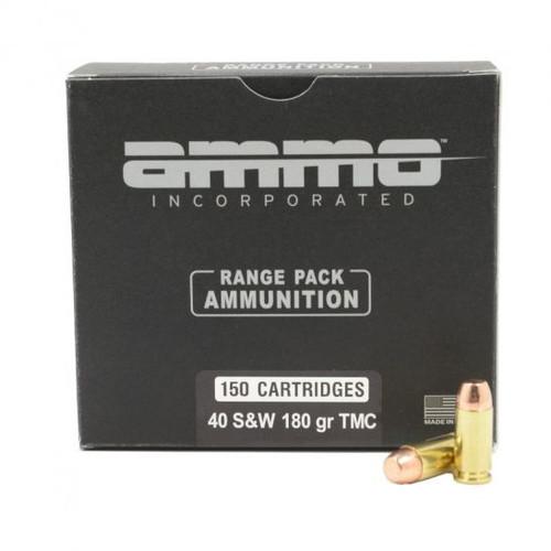 Ammo Inc. .40 S&W Range Pack, 180gr, TMC, 150rd