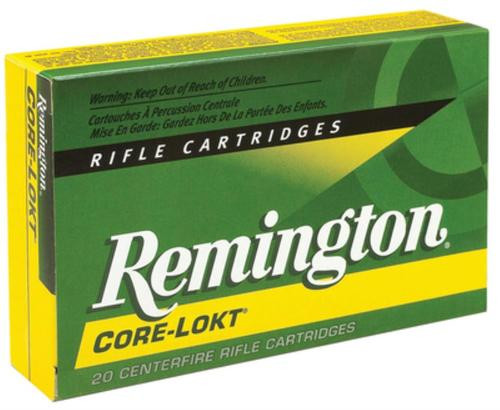 Remington Core-Lokt 25-06 Rem Pointed Soft Point 120gr, 20rd Box
