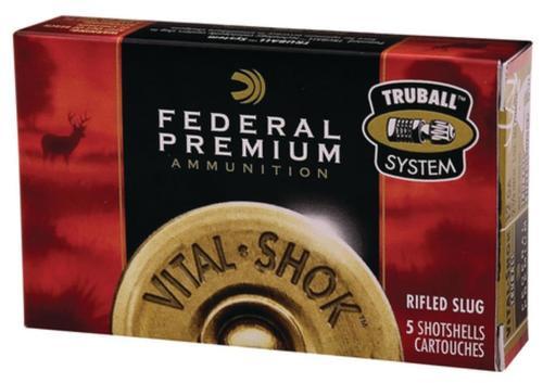 """Federal Vital-Shok 12 Ga, 2.75"""", 1600 FPS, 1oz, TruBall Slug, 5rd/Box"""