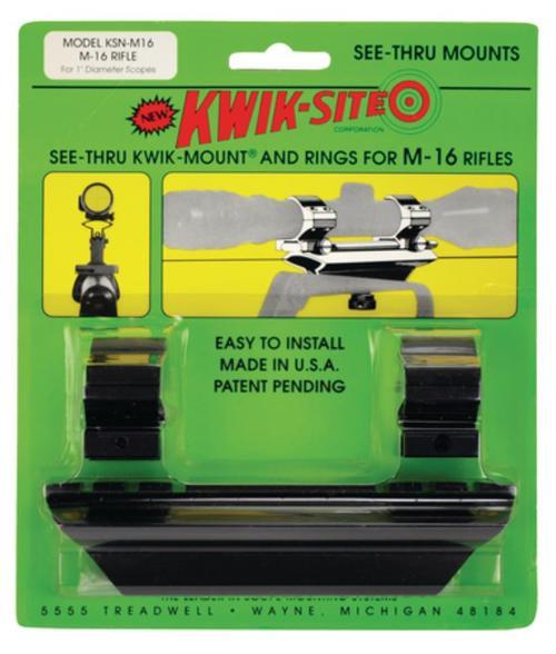 Kwik-Site See-Thru Mounts For AR-15 See Thru Style Black