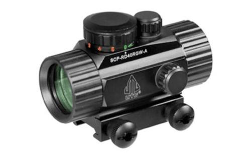 """Leapers, Inc. - UTG SWATFORCE Red Dot Sight, Fits Picatinny, New Generation, 4"""", Red/Green Dot Sight, with Integral Picatinny Mounting Deck, Black"""