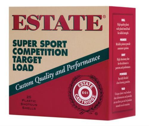 "Estate Super Sport Target 12 Ga, 2.75"", 1-1/8oz, 9 Shot, 25rd/Box"