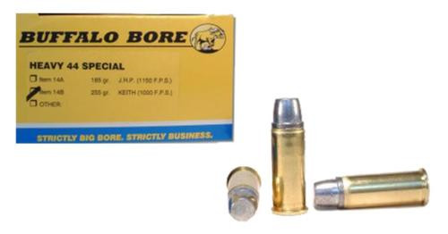 Buffalo Bore Outdoorsman 44 Special 255gr, Hard Cast, Keith Semi-Wadcutter, 20rd Box