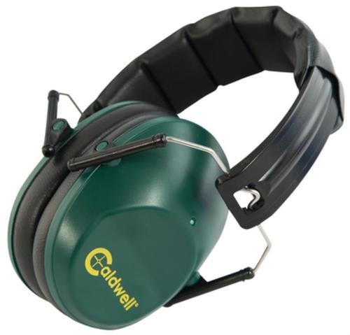 Caldwell Low Profile Range Earmuffs, NRR25dB, Green