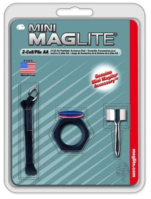 Maglite Mini Maglite Accessory Pack Clear/Red/Blue Lenses, Holder/Clip