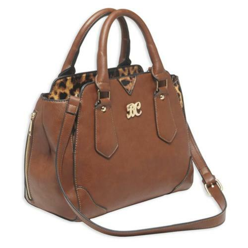 Bulldog Satchel Style Purse, Holster Chestnut/Leopard