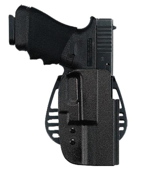 Uncle Mike's Paddle Holster Size 17 Black Kydex, Left Hand