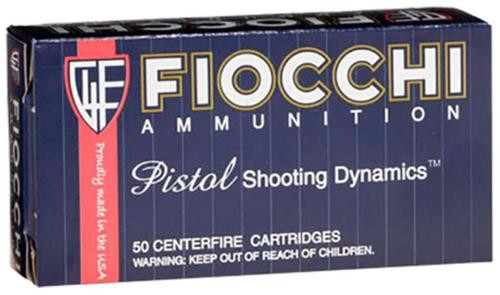 Fiocchi Pistol Shooting Dynamics 9mm 115gr JHP, 50rd Box