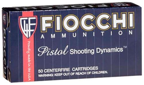 Fiocchi Pistol Shooting Dynamics 9mm 115gr JHP, 50rd Box