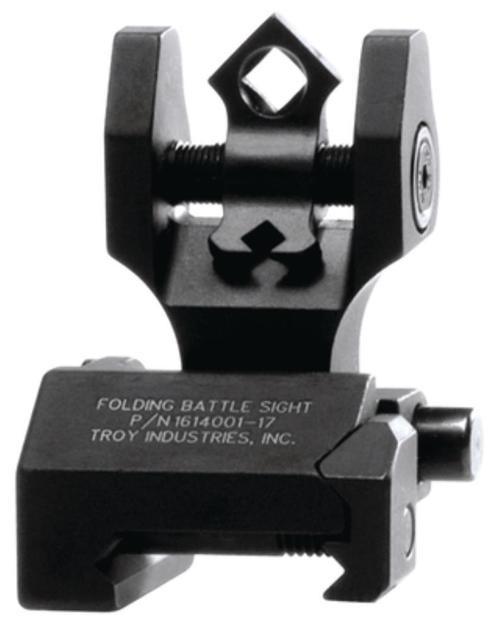 Troy Di-Optic Aperture Folding Rear Tritium Battlesight Black