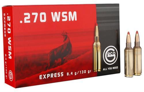 Geco .270 WSM 130gr, Expandable, 20rd/Box