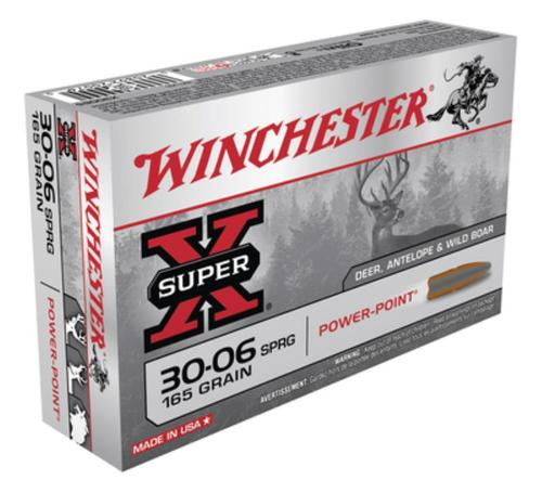 Winchester Super-X, 30-06 Spg, Pointed Soft Point, 165 GR, 20Box