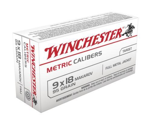 Winchester Metric 9mmX18mm Makarov FMJ 95gr, 50Box/20Case