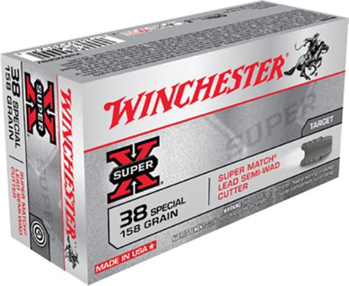Winchester 38 Special, 158 Gr, Lead Semi-wadcutter, 50rd Box