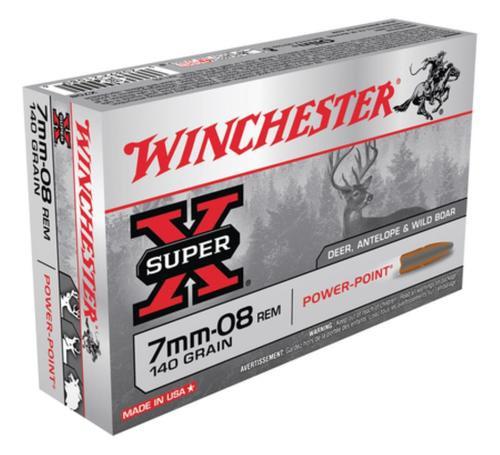 Winchester Super-X 7mm-08 Remington 140gr, Power-Point 20rd Box