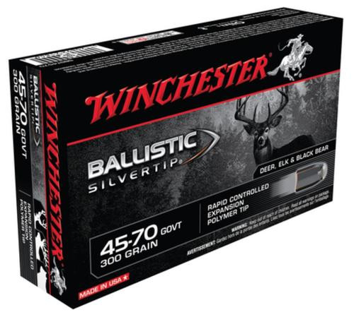 Winchester Ballistic Silvertip .45-70 Government, 300gr, 20rd Box