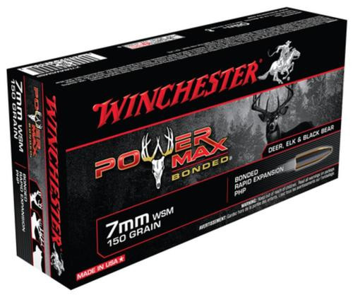 Winchester Power-Max 7mm Winchester Short Magnum 150gr, Protected Hollow Point Bonded 20rd Box