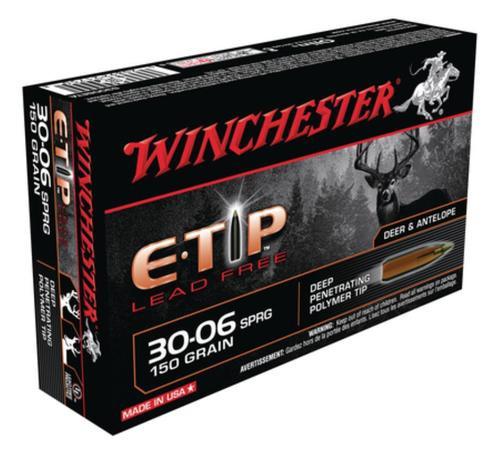 Winchester E-Tip Lead-Free .30-06 Springfield 150gr, E-Tip Lead Free 20rd Box