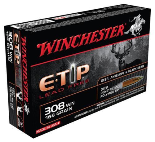 Winchester Supreme .308 Winchester 168 Grain E-Tip Lead Free