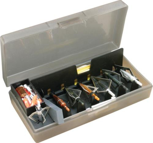 "MTM Case Gard Broadhead Accessory Box Clear Smoke 8.5x4.5x2"""