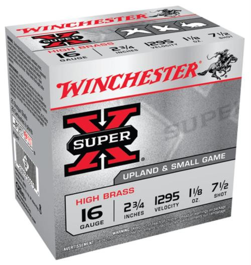 "Winchester 5 Super-X High Brass 16 ga 2.75"" 1-1/8 oz 7.5 Shot 25Box/10Case"