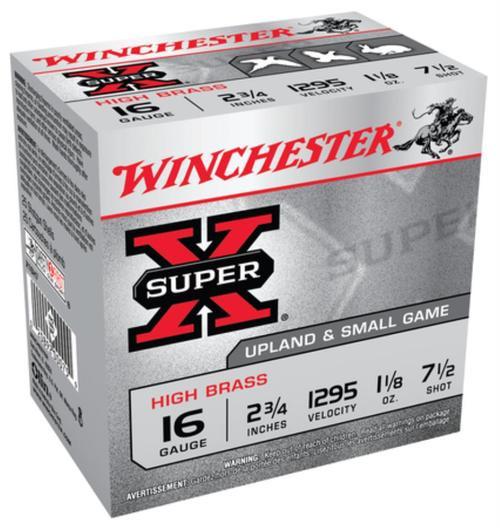 "Winchester 5 Super-X High Brass 16 ga 2.75"" 1-1/8 oz 7.5 Shot 25Box/10Case"