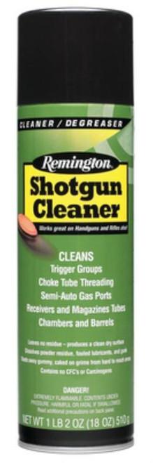 Remington, Shotgun Cleaner, Liquid, 18oz, 6 cans/box, Aerosol Can