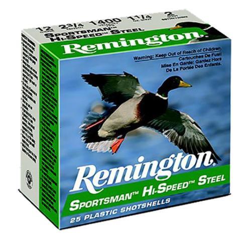 """Remington Sportsman Steel Loads 12 Ga, 3"""", 1.4oz, 2 Shot, 25rd/Box"""