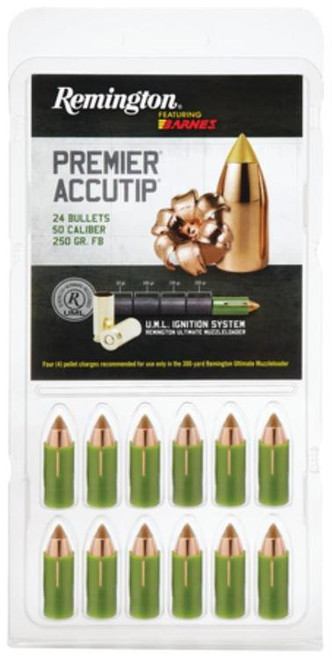 Remington Premier AccuTip .50 Caliber 250 Grain Sabot Bullet 24 Per Box