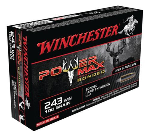 Winchester Power-Max .243 Winchester 100gr, Protected Hollow Point Bonded