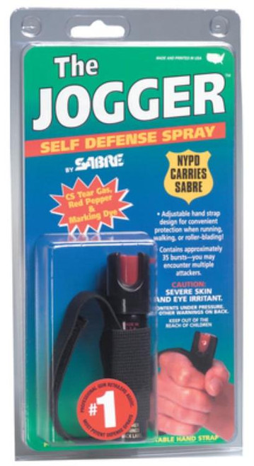 "Sabre Jogger Pepper Spray 4"" Tall x .87"" Wide .75 oz 8-10 Feet"