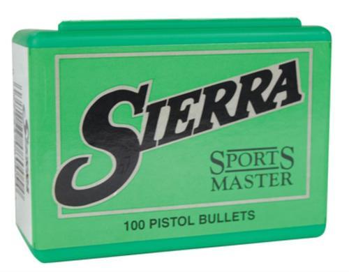 Sierra Sports Master Handgun JSP 38 Caliber .357 158gr, 100Bx