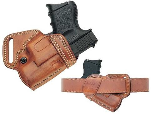 Galco Small of Back Revolver 118 Fits Belts up to 1.75 Tan Leather