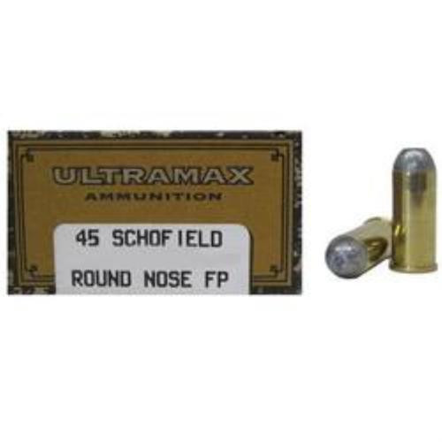 Ultramax Cowboy Action .45 Schofield 230 Gr, Lead Round Nose Flat Point, 50rd Box