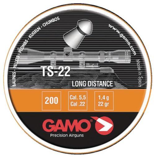 Gamo TS-22 Lead Pellets .22 Caliber 200 Per Tin
