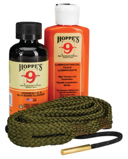 Hoppe's 1-2-3 Done! Cleaning Kit, .30 Caliber Rifle, Clam Pack, Includes BoreSnake, Solvent, and Oil